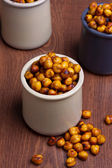 Chickpeas in jars — Stock Photo