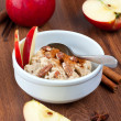 Stock Photo: Oatmeal with apples