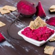 Beetroot hummus — Stock Photo