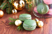 Christmas macaroons — Stock Photo