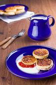 Quark pancakes — Stock Photo