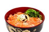 Sashimi med ris — Stockfoto
