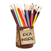 крупным планом различных цветных карандашей — Стоковое фото