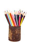 Gros plan de différents crayons de couleur — Photo