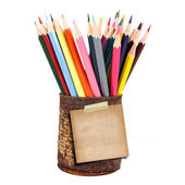 Closeup of various crayons — Stock Photo