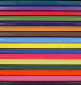 Closeup de vários lápis de cor — Foto Stock