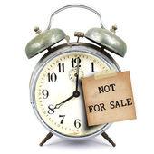 Reloj vintage y breve nota — Foto de Stock