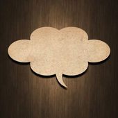 Speech bubble paper — Stock Photo