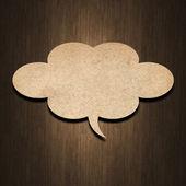 Papier bulle discours — Photo