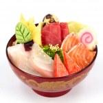 Sashimi with rice — Stock Photo #30087835