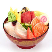 Sashimi with rice — Stock Photo