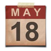 Grunge calendar — Stock Photo