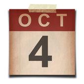 Grunge kalender — Stockfoto