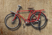 Red vintage bicycle — Stock Photo