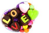 チョコレートのアルファベット — ストック写真