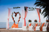Beach Wedding Ceremony  — Stock Photo