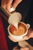 Latte art coffee — Stock Photo