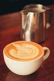 ラテ コーヒー アート — ストック写真