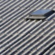Asbestos roof - Stock Photo