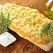 Stock Photo: Focaccia with rosemary and olive oil