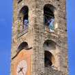 Bell, ancient city tower of Bergamo - Stock Photo