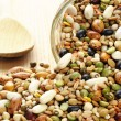 Mixture of dried legumes and cereals — Stock Photo