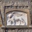 Bergamo, the lion of St. Mark — Stock Photo