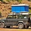 Stock Photo: Tent roof-mounted vehicle 4x4