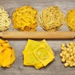 Triumph of fresh pasta made by hand — Stock Photo