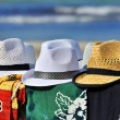 Men&amp;#039;s hats for sale on the seafront - Photo