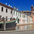View of Comacchio, Ferrara, Emilia Romagna, Italy - Stock Photo