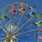 Ferris wheel in amusement park — Stock Photo