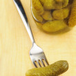 Stock Photo: :Pickled gherkins