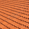 Roof tiles of terracotta — Stock Photo