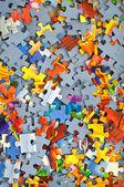 Buntes puzzle — Stockfoto