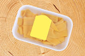 Egg noodles package, pappardelle italian pasta — Stock Photo