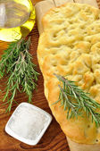 Focaccia with rosemary — Stock Photo
