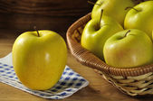 Golden apples typical of Trentino Alto Adige, Italy — Stock Photo