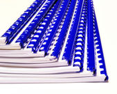 Documents bound with plastic spiral — Stock Photo