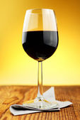 Glass of fine italian red wine — Stock Photo