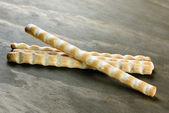 Grissini, italian bread sticks, selective focus — Stock Photo