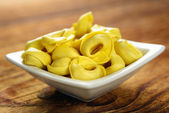 Tortellini, fresh egg pasta — Stock Photo