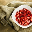 Royalty-Free Stock Photo: Sliced strawberries in a bowl