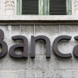Royalty-Free Stock Photo: Bank sign on the facade of an italian bank