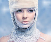 Beautiful snow queen — Stock Photo