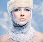 Beautiful snow queen — Stock Photo