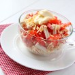Crab salad with tomatoes, peppers and cheese — Stock Photo
