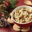 Pot with kutia - traditional Christmas sweet meal — Stock Photo
