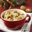 Pot with kutia - traditional Christmas sweet meal — Stock Photo #18483943