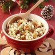 Pot with kutia - traditional Christmas sweet meal — Stock Photo #18484091